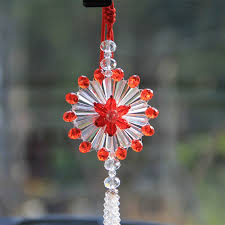 3 styles glass hanging crafts car rearview mirror