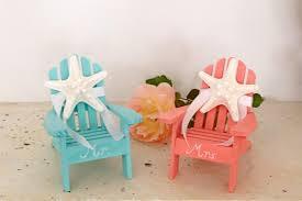 Miniature Adirondack Chair Beach Wedding Cake Topper 2 Mini Adirondack Chairs With Starfish