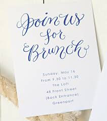 morning after wedding brunch invitations real ajalon weddings emily and adam letterpress wedding