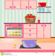 kitchen full of cabinets and appliances stock vector image 78349090