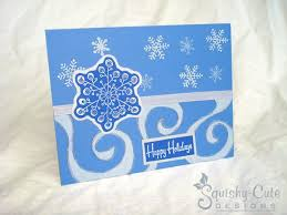homemade christmas card ideas swirly snowflake squishy cute