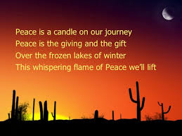 light a candle for peace lyrics hope is a candle