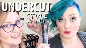 how to style an undercut hairstyle for women youtube