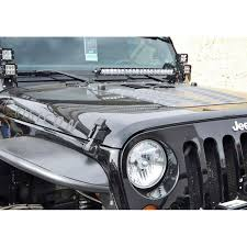 Jeep Wrangler Led Light Bar by Rigid Industries 40333 Jeep Jk Wrangler Hood Mounts For 20
