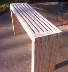 ana white console table diy project make your own slatted console table apartment therapy