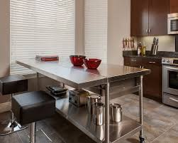 kitchen table island stainless island stainless steel kitchen island houzz stainless