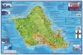 Molokai Map Hawaii 2009 Surf Map Laminated By Frankos Maps Ltd