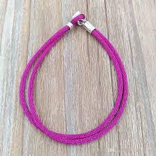 gold cord bracelet images Authentic 925 silver fabric cord bracelet purple fits european jpg