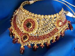 indian bridal necklace images Antique gold indian bridal jewelry set zircons red ruby stone jpg
