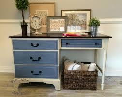 Desk Dresser Combination Vintage Refined Two Toned Desk
