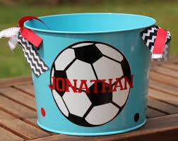 sports easter baskets personalized soccer easter basket monogrammed easter pail