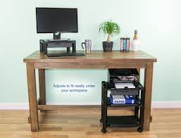 Cheap Height Adjustable Desk by Rolling Printer Stand Under Desk Elegant Angle U Height