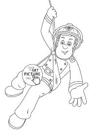 fireman sam hero cartoon coloring pages kids printable