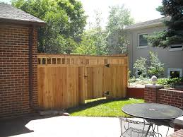 exterior calm wooden fence design for your backyard combine with