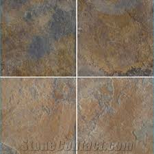 wellest multi color slate floor tile slate rustic brown