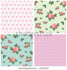 shabby chic wrapping paper abstract roses shabby chic background space stock vector 202361278