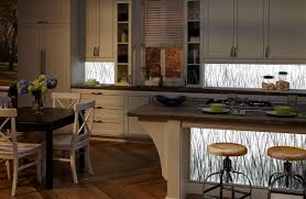 Kitchen Design Backsplash Lumisplash Laminates With Birch Design Illuminated Edge Lit