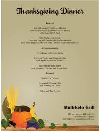 thanksgiving dinner menu template festival collections