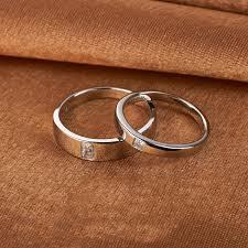 platinum metal rings images Europe simple 925 silver plated platinum couple rings couple rings jpg