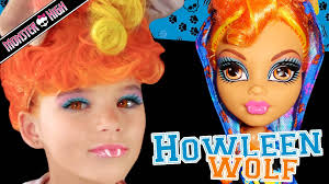 howleen wolf monster high doll costume makeup tutorial for cosplay or you