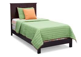 espresso twin bed platform twin bed delta children