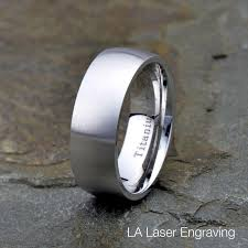 can titanium rings be engraved titanium wedding band 8mm brushed domed titanium ring