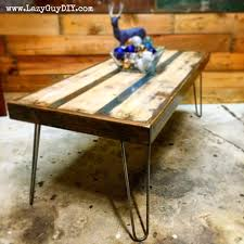 Woodworking Build Coffee Table by Thirteen Days Of Woodworking Hairpin Coffee Table Lazy Guy Diy