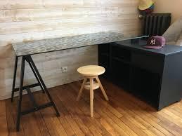 plateau bureau sur mesure bureau d angle sur mesure valchromat noir