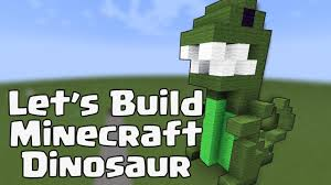 minecraft building templates let s build a minecraft dinosaur building idea
