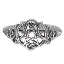 wiccan engagement rings wiccan rings pagan rings pentagram rings and new age rings by
