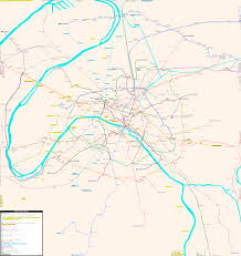 Map Paris France by Paris Real Distance Metro Map