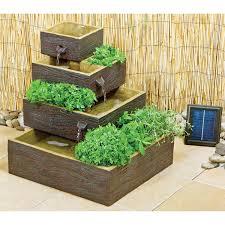 indoor outdoor 4 tier solar water fountain planter u2013 aquagarden
