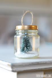 diy ornament a recycled baby food jar tree snow globe