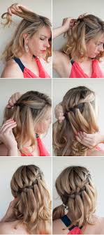 easiest type of diy hair braiding http www ohthelovelythings com 2012 10 diy waterfall braided bun