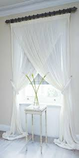 window dressing soft draping voile cross over set pure white