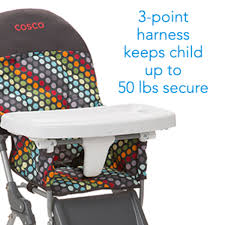 Amazon Com Cosco Products 4 - amazon com cosco simple fold high chair rainbow dots baby