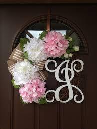 spring wreaths for front door summer hydrangea wreath with