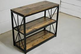 reclaimed wood entry table reclaimed wood entry table bastianbintang within metal entryway