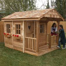 Lowes Outdoor Sheds by Shop Outdoor Living Today Sunflower Wood Playhouse Kit At Lowes Com