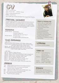 Resume For Fashion Designer Job by 15 Best Visuaalisia Cv Malleja Images On Pinterest Resume Ideas