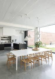 béton ciré sol cuisine déco salon cuisine avec sol en béton ciré gris