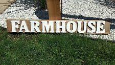 Barn Wood Letters Wooden Letters Farmhouse Home Décor Plaques U0026 Signs Ebay