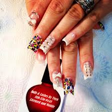 moon dip nails pink and white nails rhinestone nails colorful