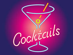 pink martini logo cocktail neon clip art library
