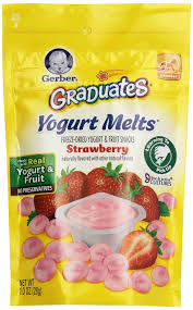 graduates snacks gerber yogurt melts crawler strawberry 1 0 oz 28 g rite aid
