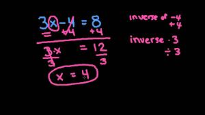 apex math solving two step algebraic equations common core grade