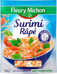 cuisiner le surimi le surimi râpé fleury michon