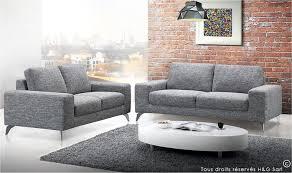 canape 3 places pas cher salon de jardin promo 9 canape 3 places en tissu gris clair canap
