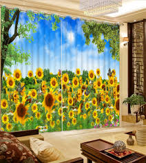 Sunflower Yellow Curtains by Popular Window Curtain With 3d Buy Cheap Window Curtain With 3d