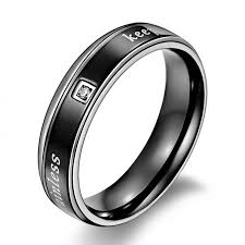 black fashion rings images Black mens rings mens black rings jpg